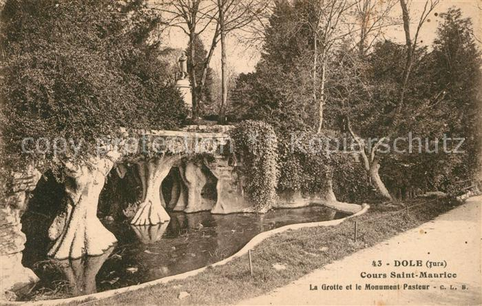 Dole_Jura Cours Saint Maurice La Grotte et Monument Pasteur Dole_Jura