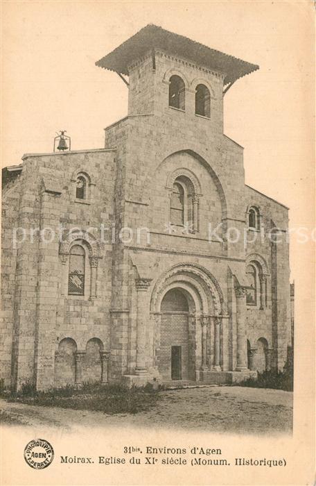 Moirax Eglise du XIe siecle Monument Historique Moirax