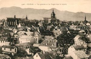 Colmar_Haut_Rhin_Elsass Vue generale de la ville et les Vosges dans le lointain Colmar_Haut_Rhin_Elsass