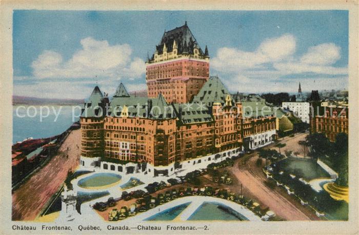 Quebec Chateau Frontenac Kuenstlerkarte Quebec