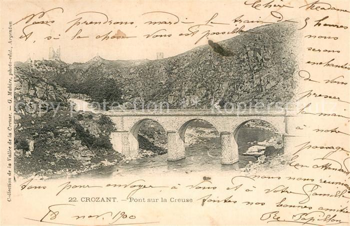 Crozant Pont sur la Creuse  Crozant