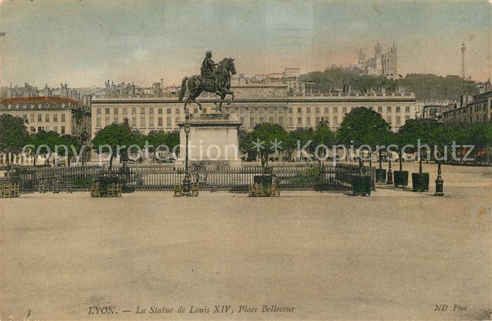 Lyon_France Statue Louis XIV Place Bellecour  Lyon France