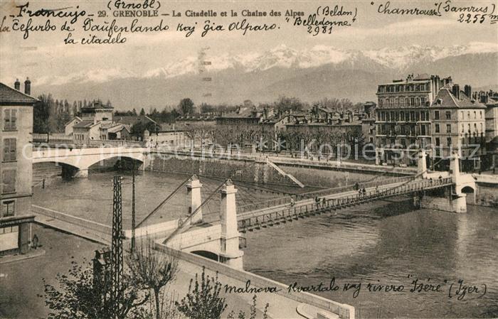 Grenoble Citadelle Chaine des Alpes  Grenoble