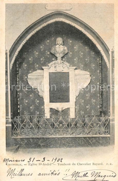 Grenoble Eglise St. Andr? Tombeau du Chevalier Bayard Grenoble