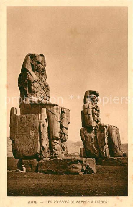 Theben_Egypt Les Colosses de Memnon a Thebes Theben Egypt