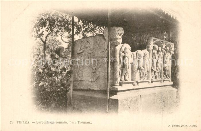 Tipaza Sarcophage romain parc Tremaux Tipaza