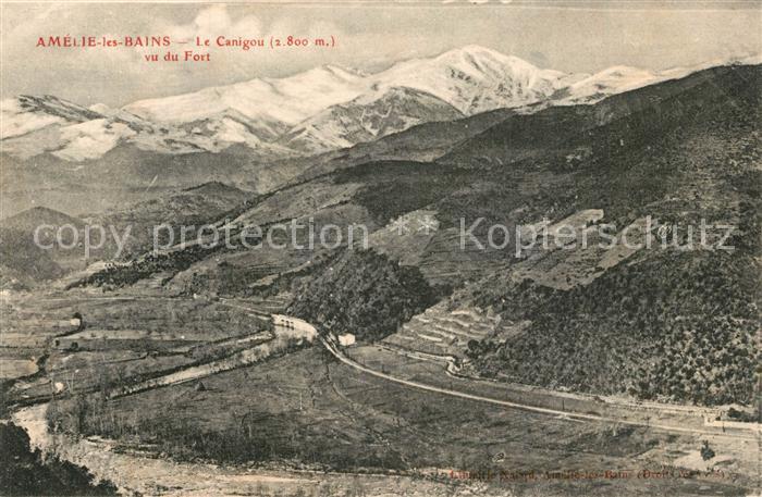Amelie les Bains Palalda Le Canigou vu du Fort Amelie les Bains Palalda