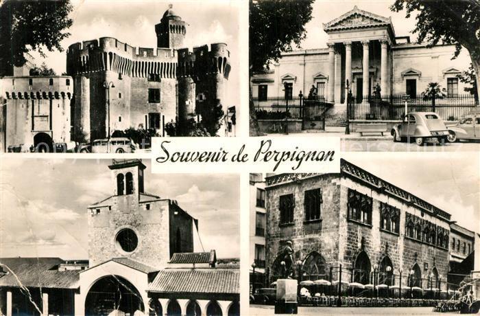 Perpignan Vues souvenir Monuments Perpignan