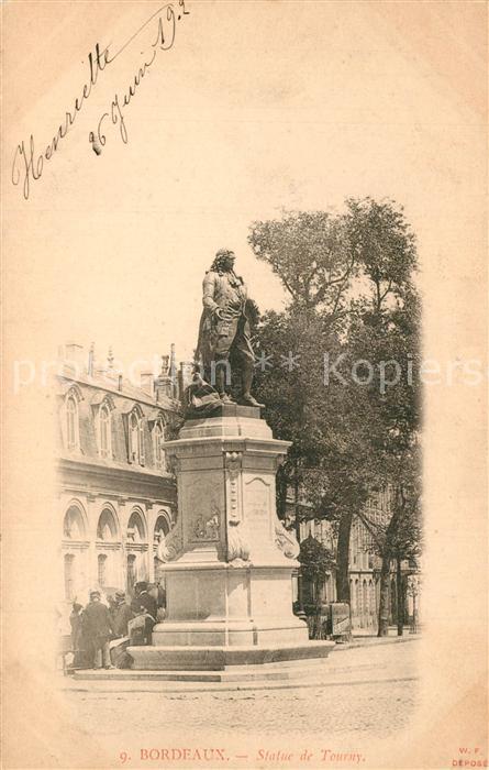 Bordeaux Statue de Tourny Monument Bordeaux