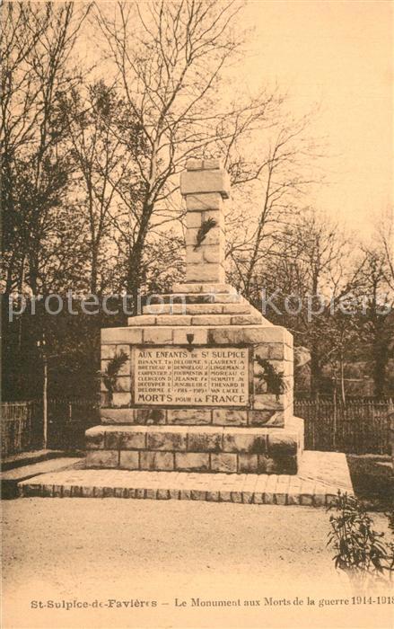 Saint Sulpice de Favieres Monument aux Morts de la Grande Guerre Kriegerdenkmal Saint Sulpice de Favieres