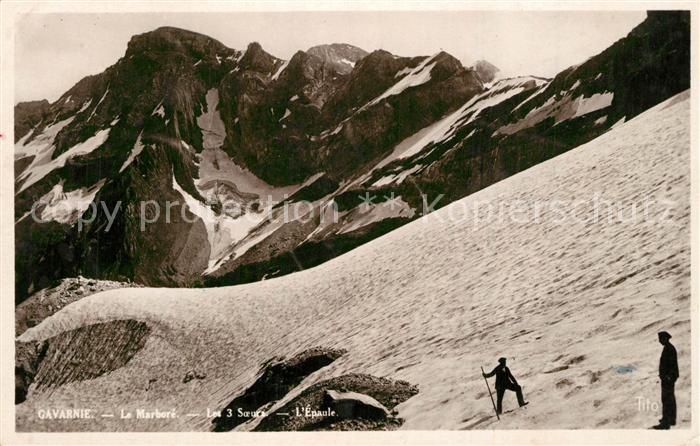 Gavarnie_Hautes Pyrenees Le Marbore Les 3 Soeurs Gebirgspanorama Pyrenaeen Gavarnie Hautes Pyrenees