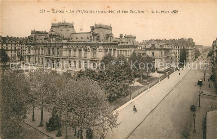 Lyon_France La Prefecture Rue Servient Lyon France