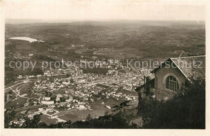 Lourdes_Hautes_Pyrenees Vue panoramique prise du Pic du Jer Lourdes_Hautes_Pyrenees