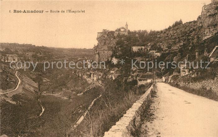 Rocamadour Route de l Hospitalet Rocamadour