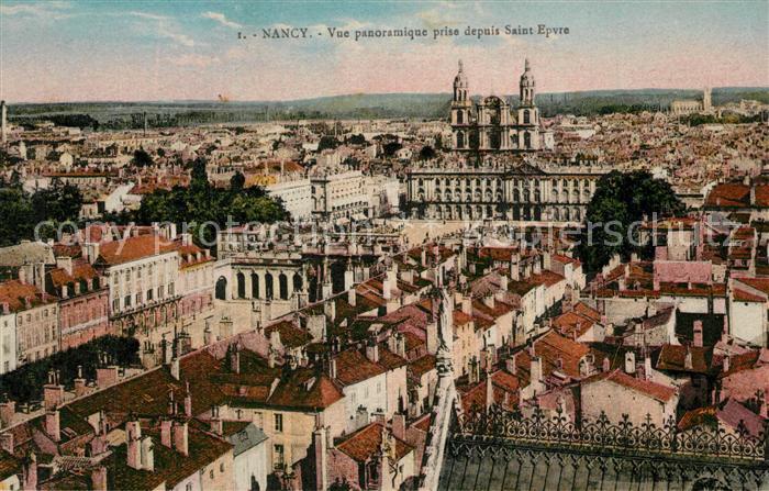 Nancy_Lothringen Vue panoramique prise depuis la Basilique Saint Epvre Nancy Lothringen