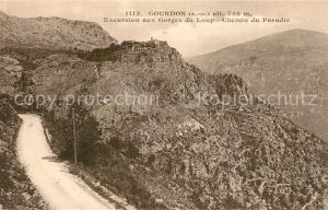 Gourdon_Alpes Maritimes Excursion aux Gorges du Loup Chemin du Paradis Gourdon Alpes Maritimes