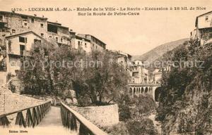 Luceram Entree de la Ville Le Ravin Excursion aux environs de Nice Luceram