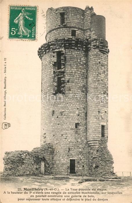 Montlhery La Tour possede six etages Montlhery