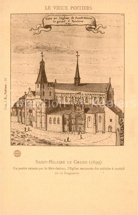 Poitiers_Vienne Saint Hilaire le GrandEn partie ruinee par la Revolution Poitiers Vienne