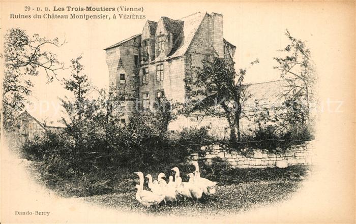 Les_Trois Moutiers Ruines du Chateau Montpensier a Vezieres Les_Trois Moutiers