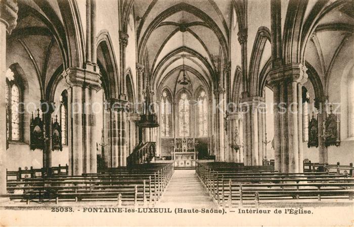 Fontaine les Luxeuil Interieur de l Eglise Fontaine les Luxeuil