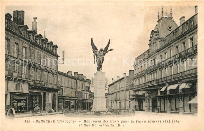Bergerac Monument des Morts pour la Patrie et Rue Mounet Sully Bergerac