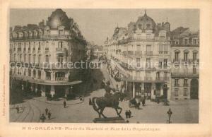 Orleans_Loiret Place du Martroi et Rue de la Republique Orleans_Loiret