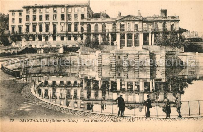 Saint_Cloud_Garches Les Ruines du Palais Saint_Cloud_Garches
