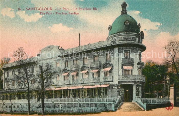Saint Cloud_Hauts de Seine Le Parc Le Pavillon Bleu Saint Cloud