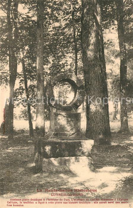 Luxeuil les Bains Ancienne pierre druidique a l'interieur du Parc Luxeuil les Bains