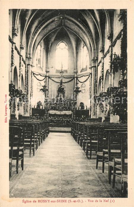 Rosny sur Seine Eglise Vue de la Nef Rosny sur Seine