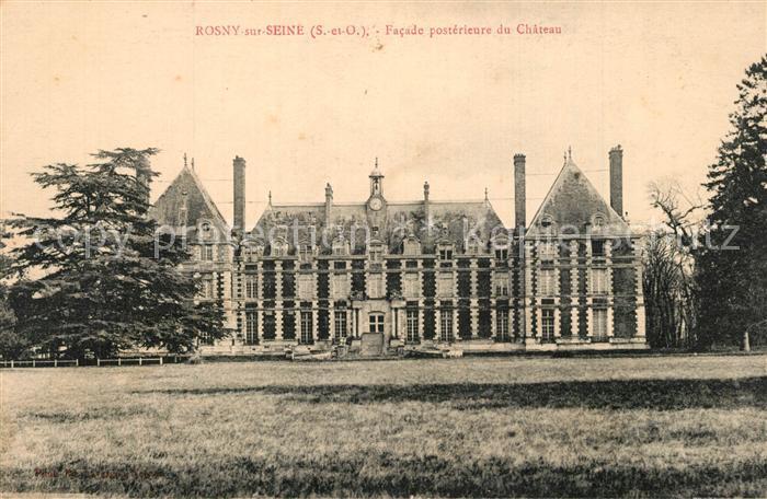 Rosny sur Seine Facade posterieure du Chateau Rosny sur Seine