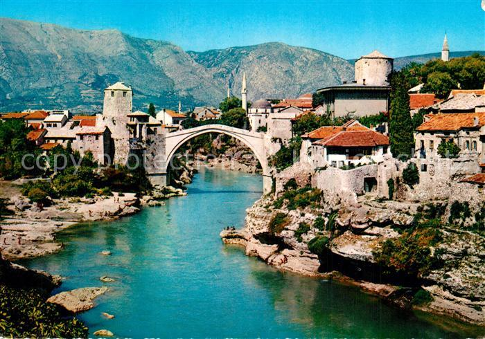 Mostar_Moctap Stadtansicht mit alter Brcke Mostar_Moctap