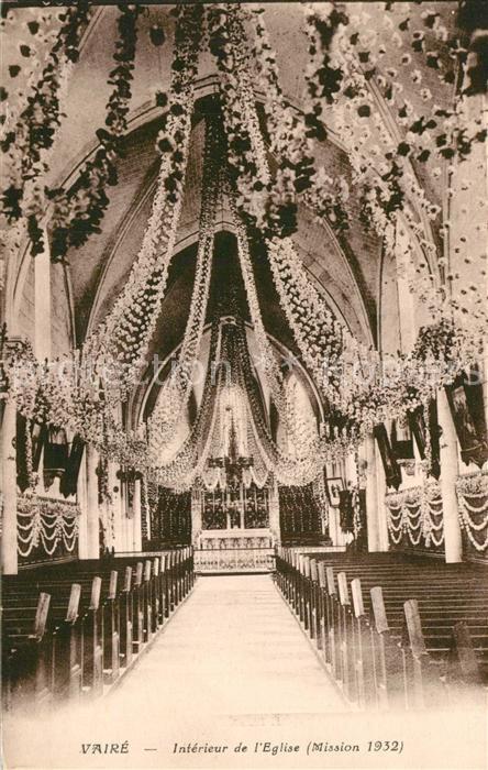 Vaire Interieur de l Eglise Mission 1932 Vaire