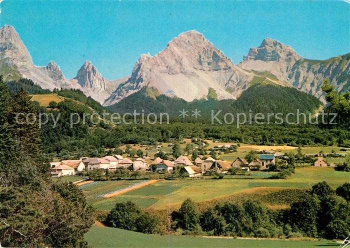 Lus la Croix Haute Vue generale et les Alpes Lus la Croix Haute