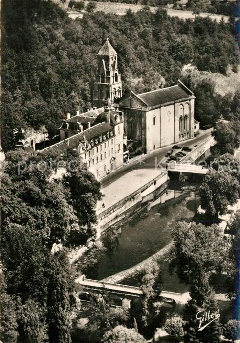 Brantome Vue aerienne sur la Dronne Abbaye et Clocher XIe siecle Brantome