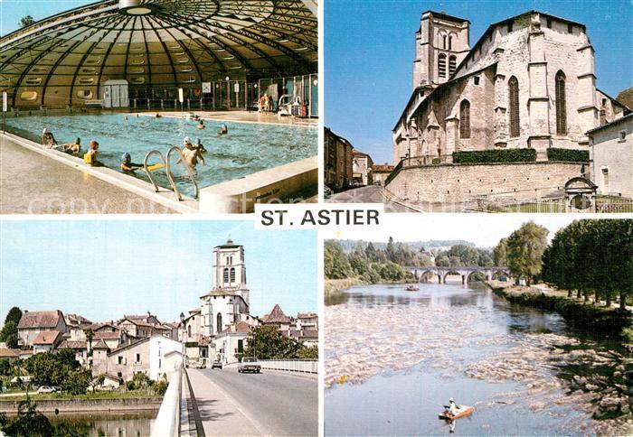 Saint Astier_Dordogne Piscine Eglise Pont sur l Isle Saint Astier_Dordogne
