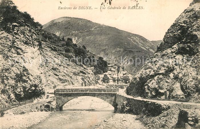 Barles Vue generale Pont Alpes Barles