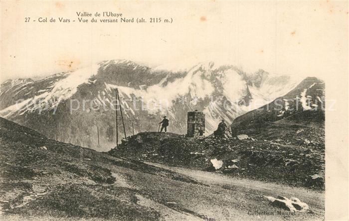 Col_de_Vars Vallee de l Ubaye vue du versant nord Gebirgspass Franzoesische Alpen Col_de_Vars
