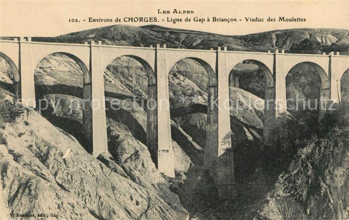 Chorges Viaduc Ligne de Gap a Briancon Viaduc des Moulettes Chorges