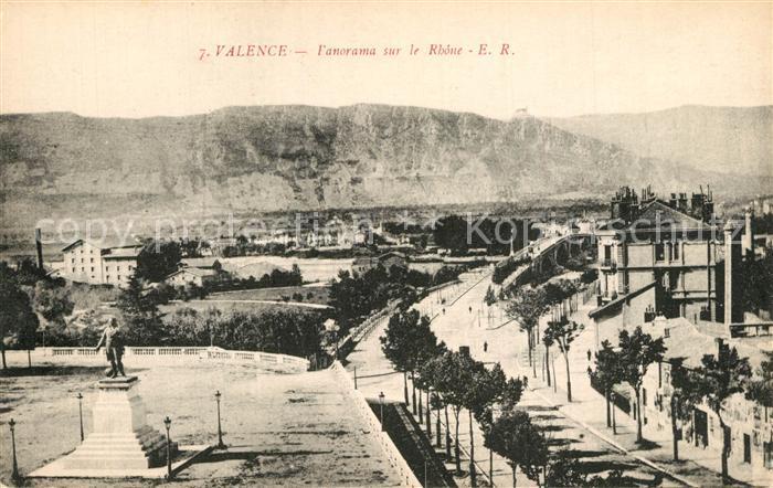 Valence_Drome Panorama sur le Rhone Monument Valence_Drome
