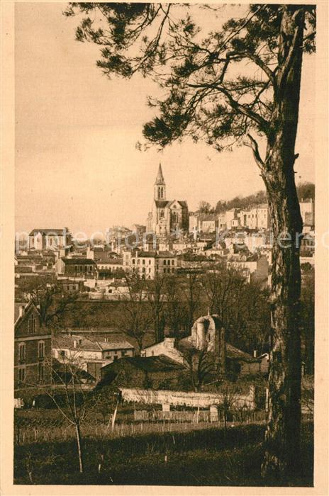 Angouleme Quartier Saint Ausone vue prise des Bois de Saint Martin Angouleme