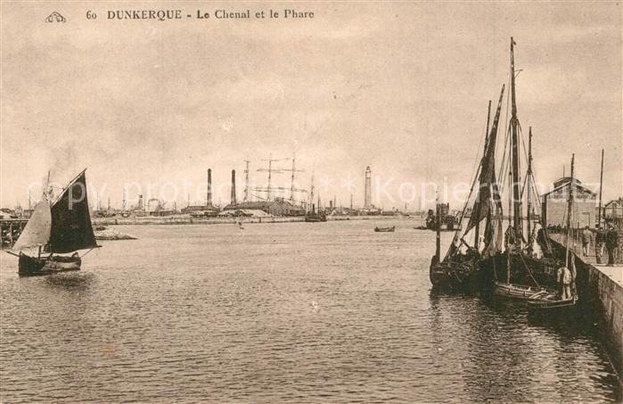 Dunkerque Le Chenal Phare  Dunkerque