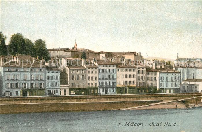 Macon_Saone et Loire Quai Nord  Macon Saone et Loire