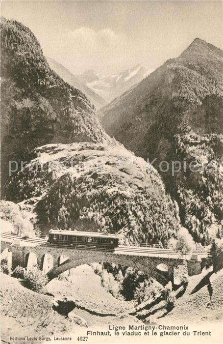 Finhaut Viaduc Glacier du Trient Ligne Martigny Chamonix  Finhaut