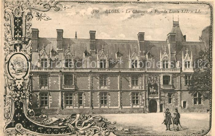 Blois_Loir_et_Cher Chateau Facade Louis XII Blois_Loir_et_Cher