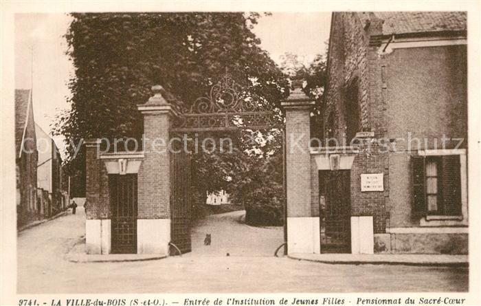 La_Ville du Bois Entree de l'Institution de Jeunes Filles Pensionnat du Sacre Coeur La_Ville du Bois