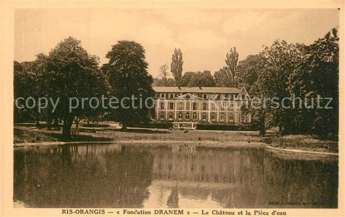 Ris Orangis Fondation Dranem Le Chateau et la Piece d eau Ris Orangis