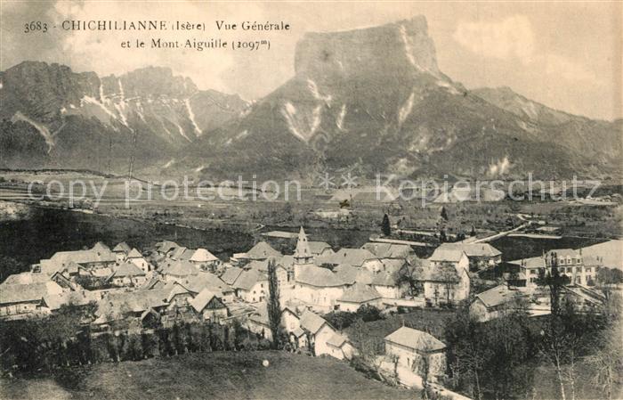 Chichilianne Vue generale et le Mont Aiguille Chichilianne