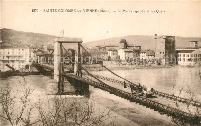 Sainte_Colombe_les_Vienne Le Pont suspendu et les Quais Sainte_Colombe_les_Vienne